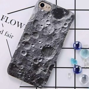 NEW iPhone 7+/8+ Moon Surface Hard PC Case
